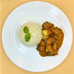 Hot Mutton Curry Rice (Vegetarian)