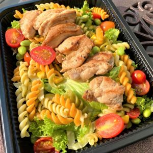 Chicken Breast Pasta Salad With Japanese Sesame Dressing