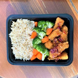 Sweet and Spicy Thai Tilapia Fish with Brown Rice