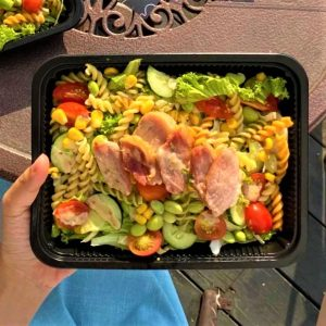 Fusilli Pasta Salad Smoked Duck With Sesame Dressing