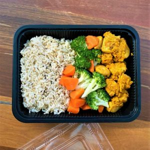 Fragrant Lemongrass Chicken Breast with Brown Rice