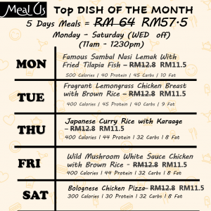 Top DISH OF THE MONTH SET