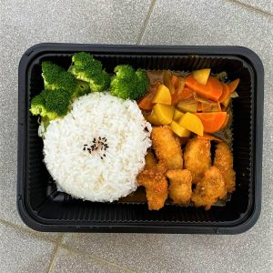 Japanese curry Rice with Tilapia fish